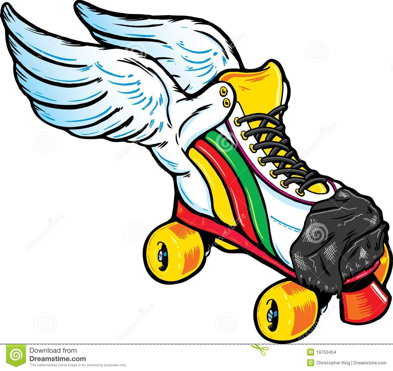 retro style winged roller skate stock images image 19753454 roller derby clip art free Roller Derby Drawings