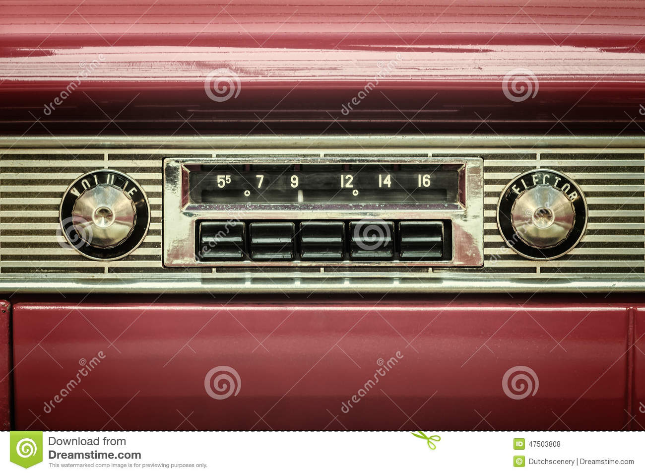 Download Retro Styled Image Of An Old Car Radio Stock Photo - Image of detail, ancient: 47503808