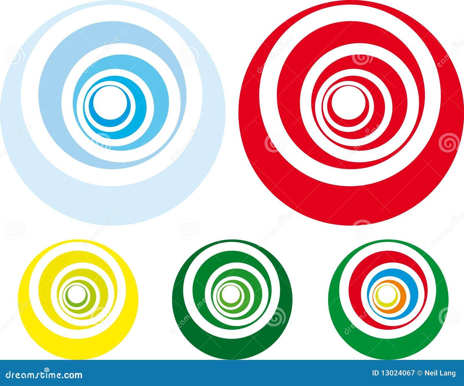 Retro styled spiral