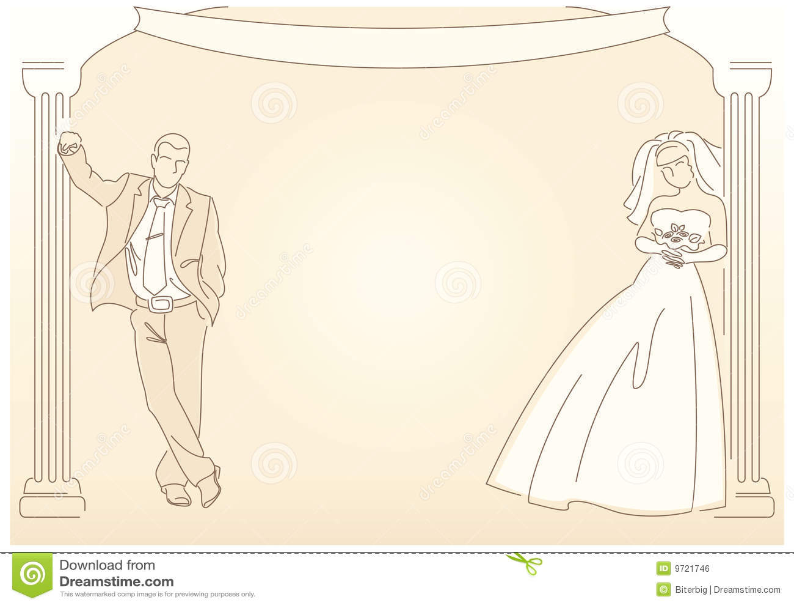 Retro Styled Wedding Background Stock Vector Image 9721746