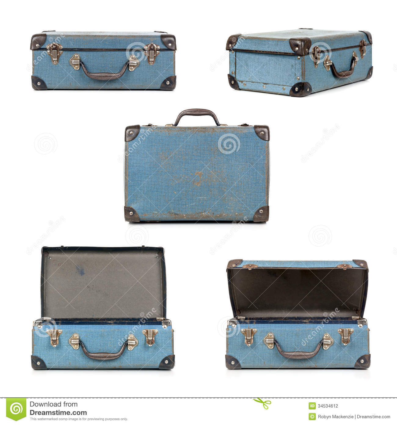 Retro Suitcase Collection Stock Photography - Image: 34534612