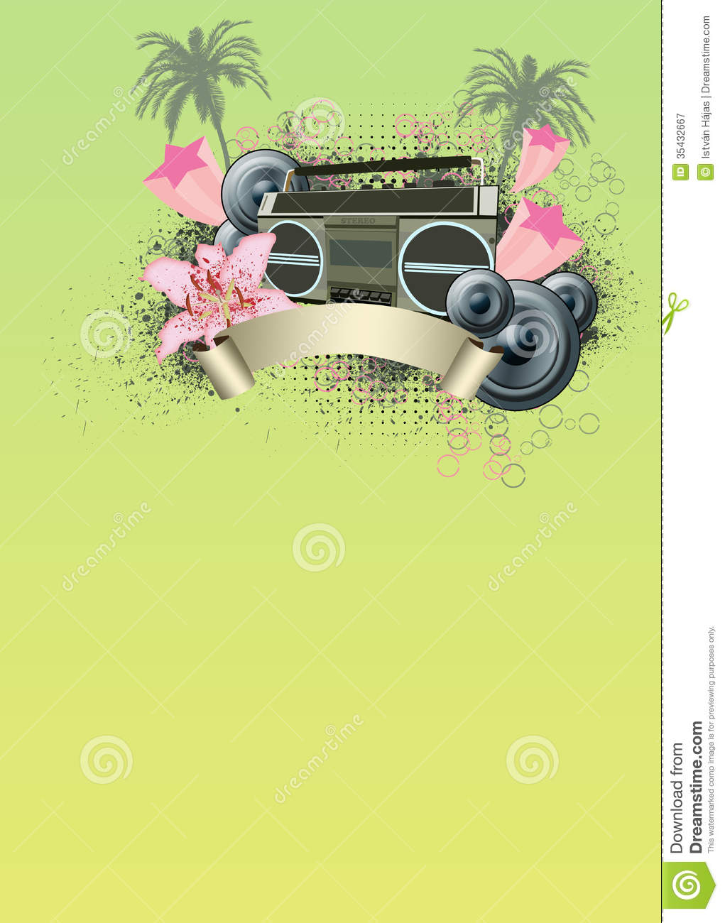 retro summer party background royalty free stock