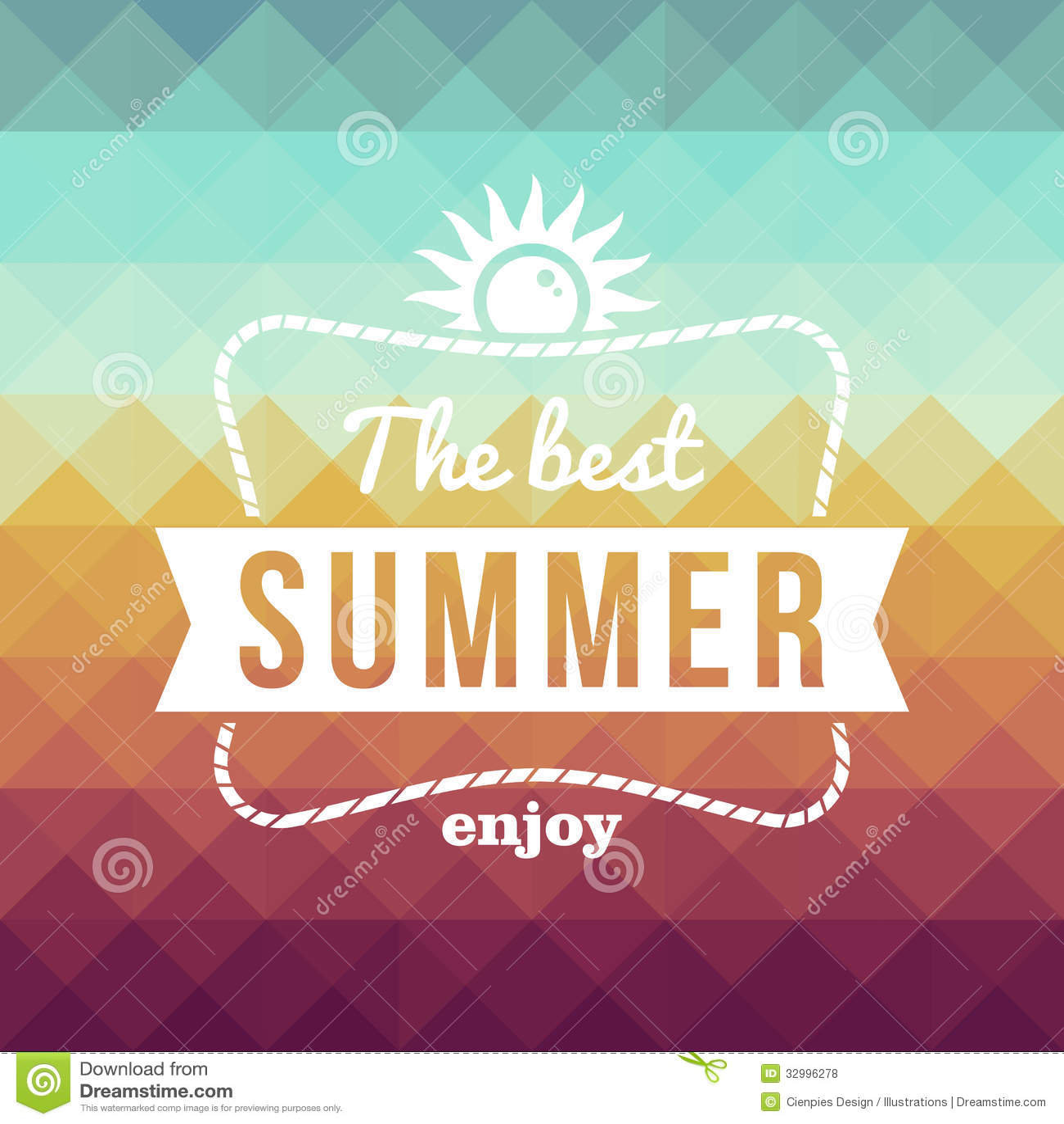 Retro Summertime Holidays Poster Stock Vector