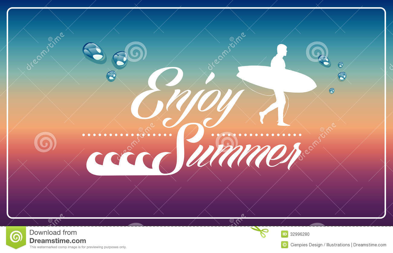 Download Retro Summertime Vacations Poster Stock Vector