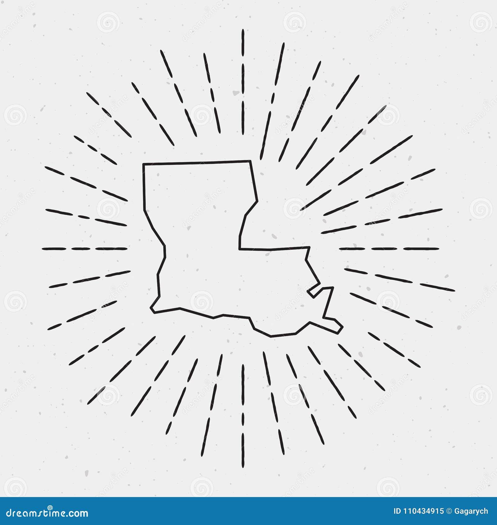 Retro Sunburst Hipster Design. Stock Vector - Illustration of states ...