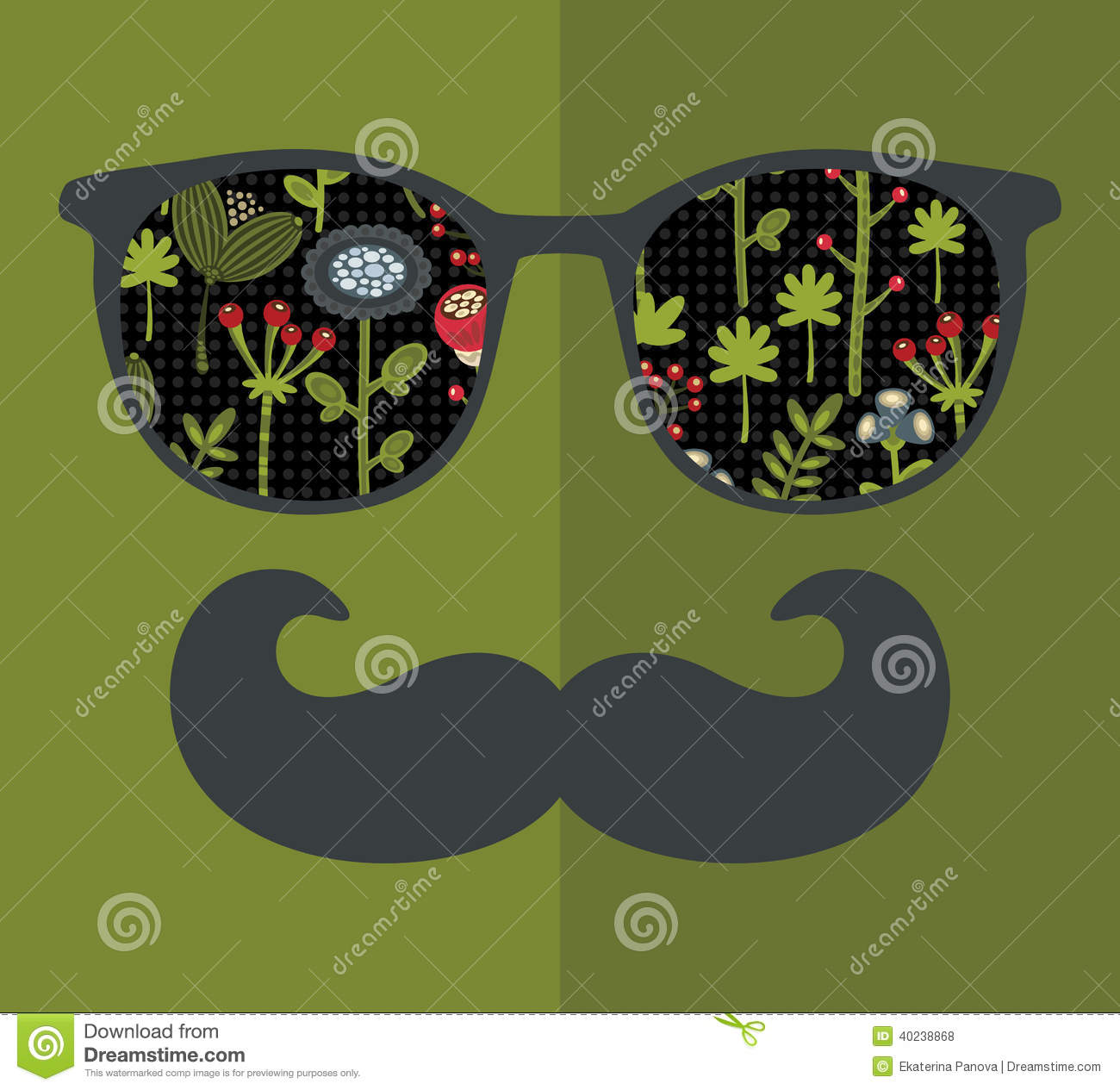 Retro Sunglasses With Reflection For Hipster. Stock Vector ...