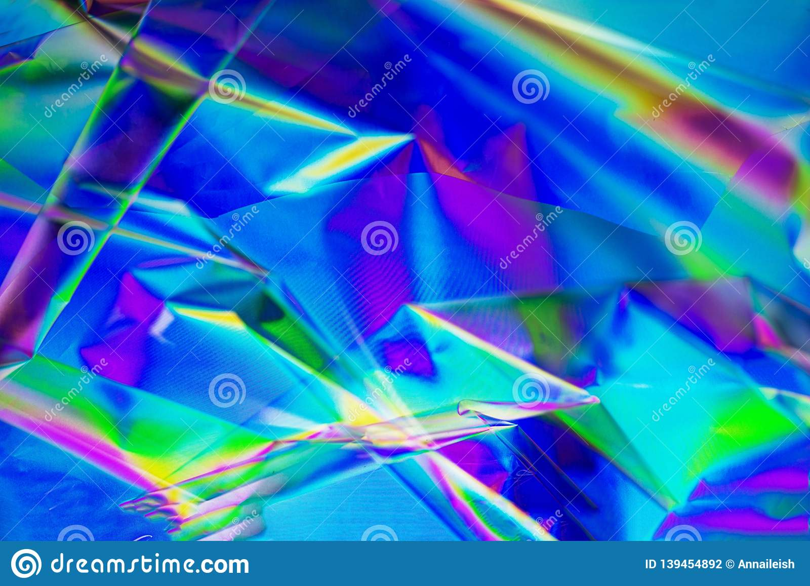 Retro synth wave, Abstract background in neon colors, cross polarization. Trend concept 2019 colors plastic pink, ufo