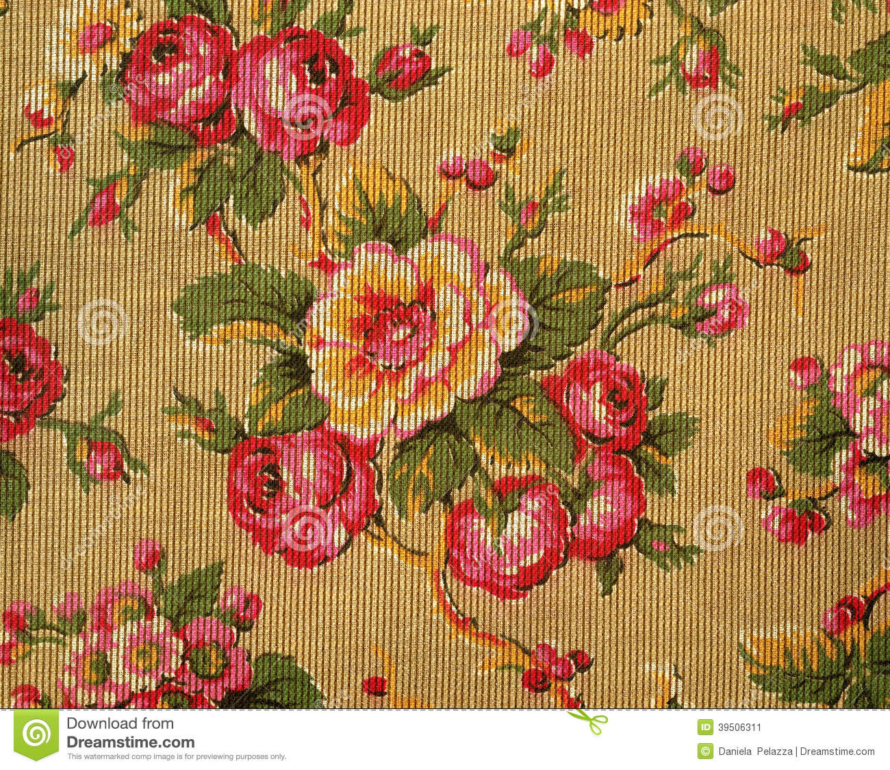 Retro tapestry with roses