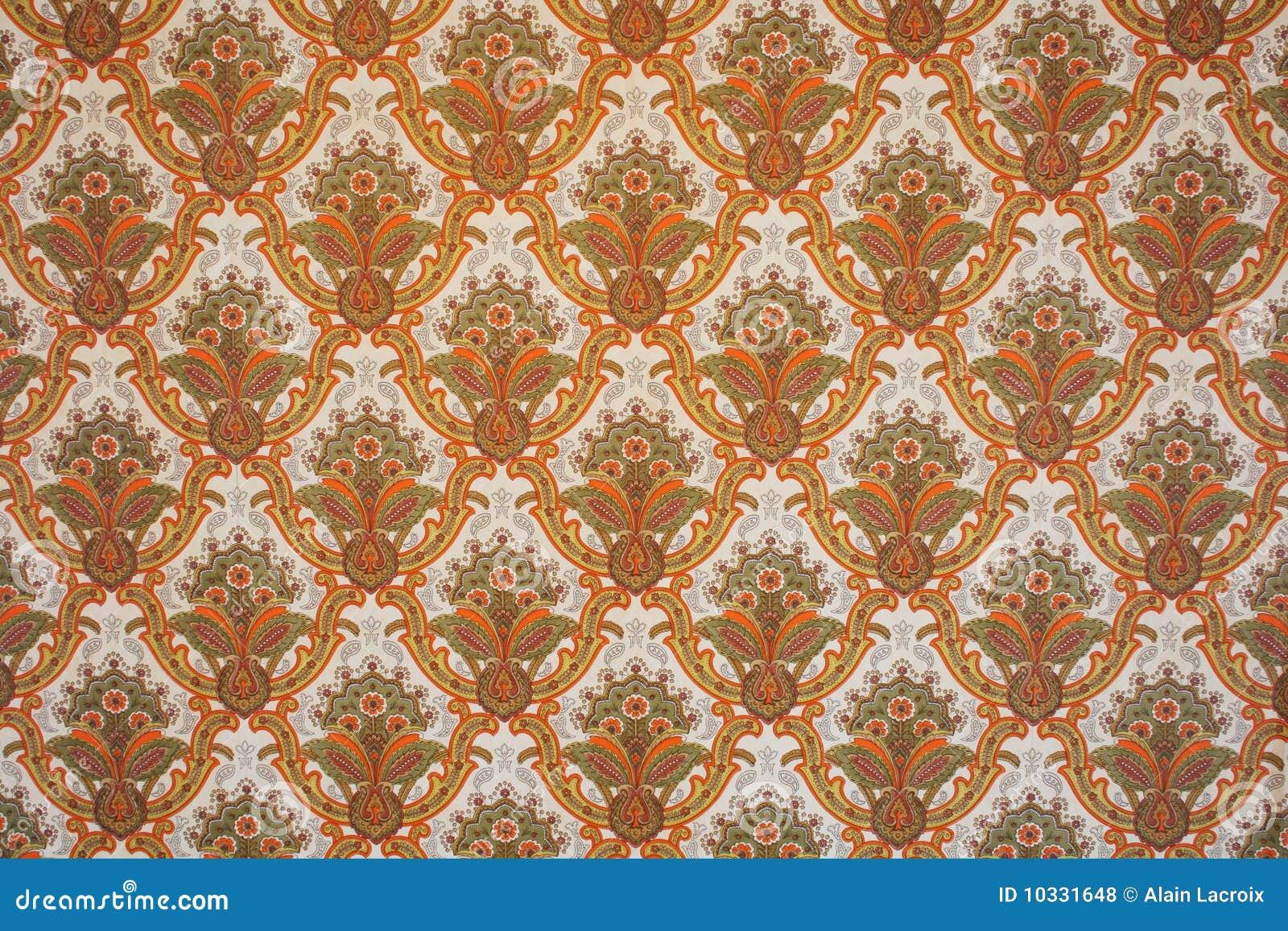 Retro tapete lizenzfreie stockfotos bild 10331648 for Tapete orange