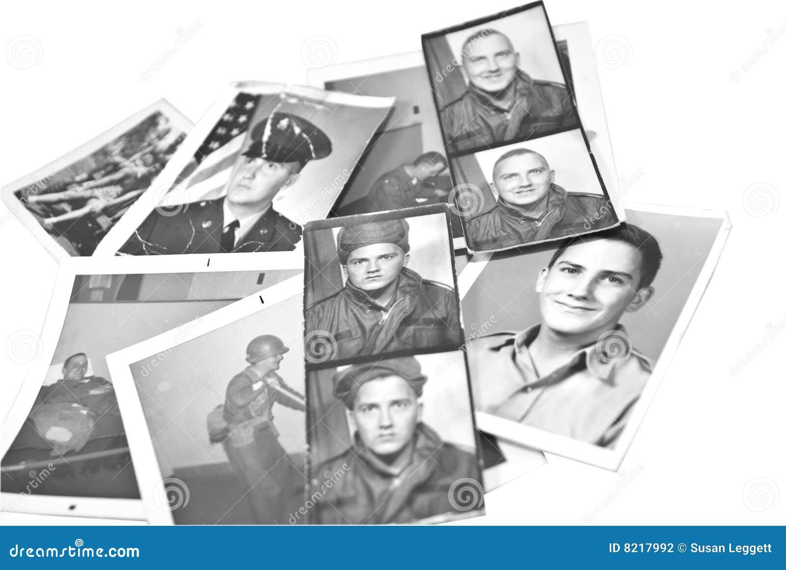 Retro tappning för militära foto