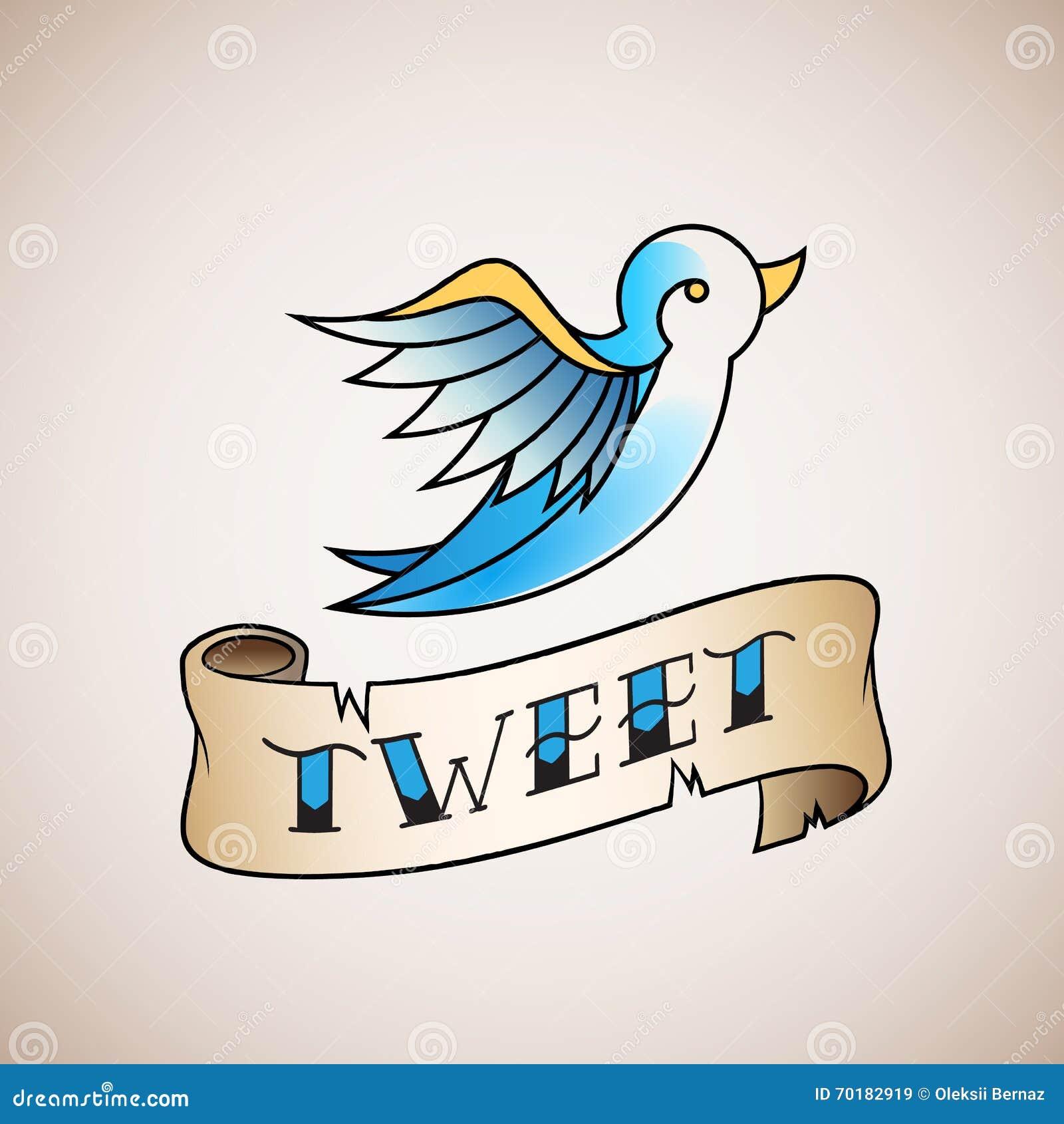 twitter bird icon vector cartoon vector cartoondealer com 14063669
