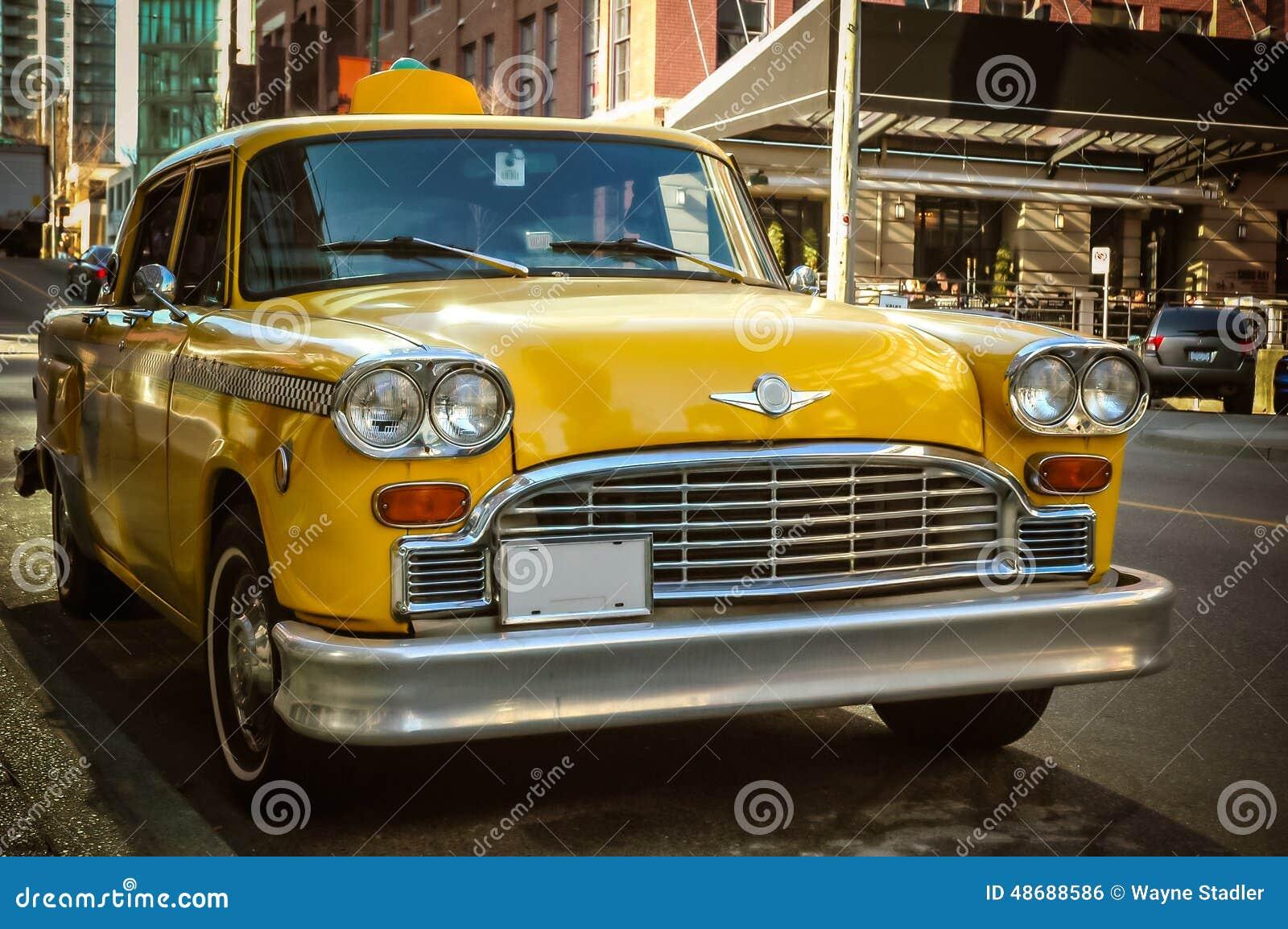 Retro Taxi Cab stock photo. Image of