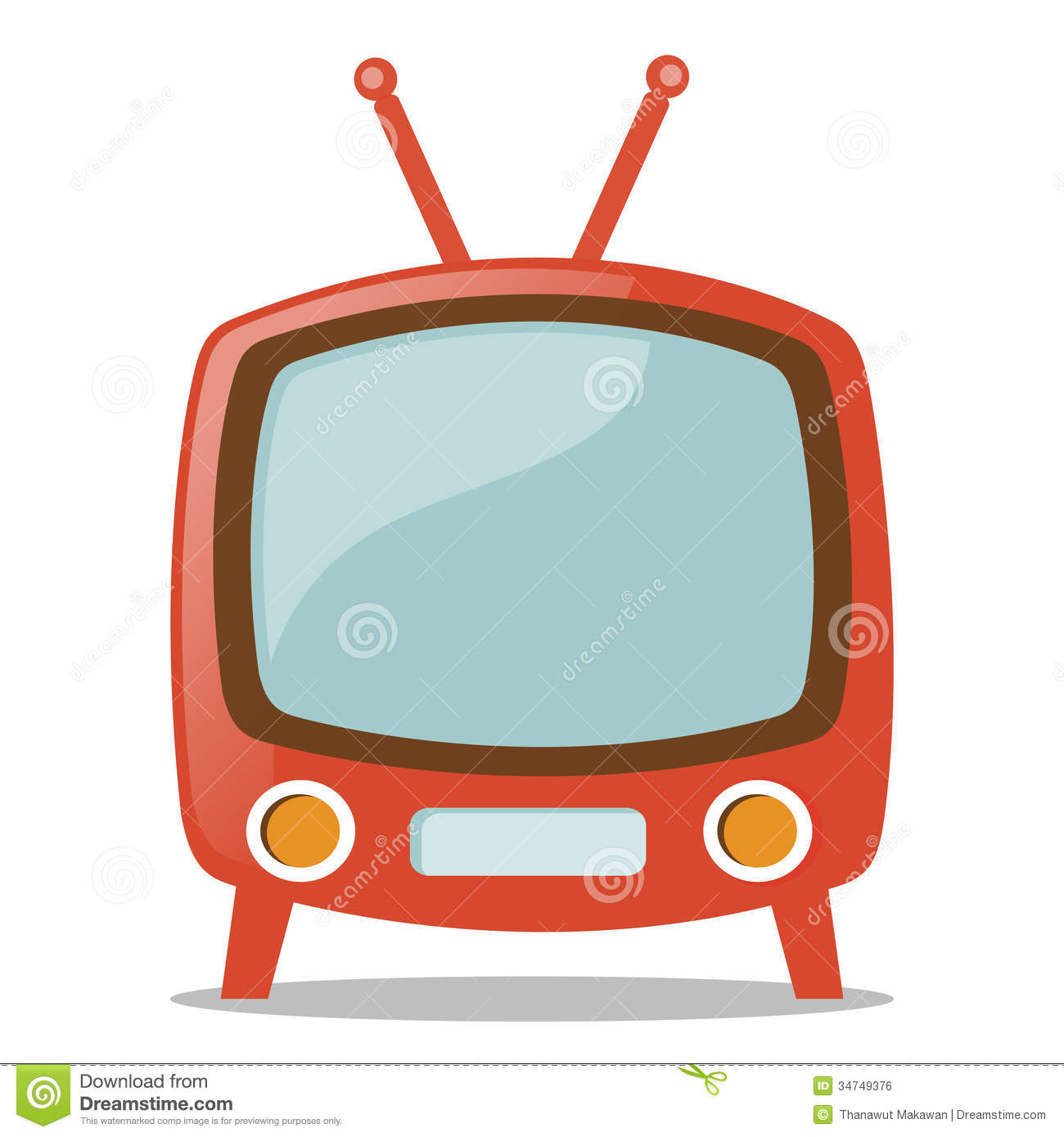 How To Draw An Old Fashioned Tv
