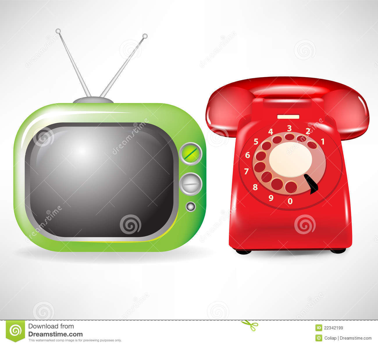 Retro Television And Phone Royalty Free Stock Images - Image: 22342199