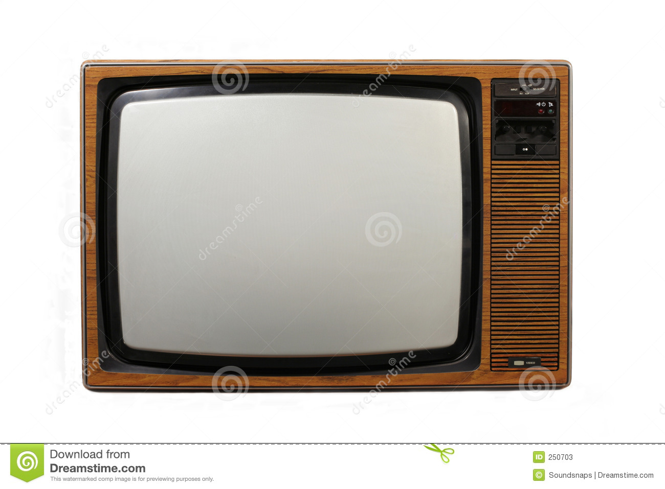 retro television set stock photos image 250703. Black Bedroom Furniture Sets. Home Design Ideas