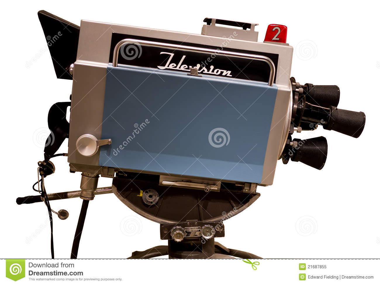 Retro television studio camera royalty free stock photo - Tv in camera ...