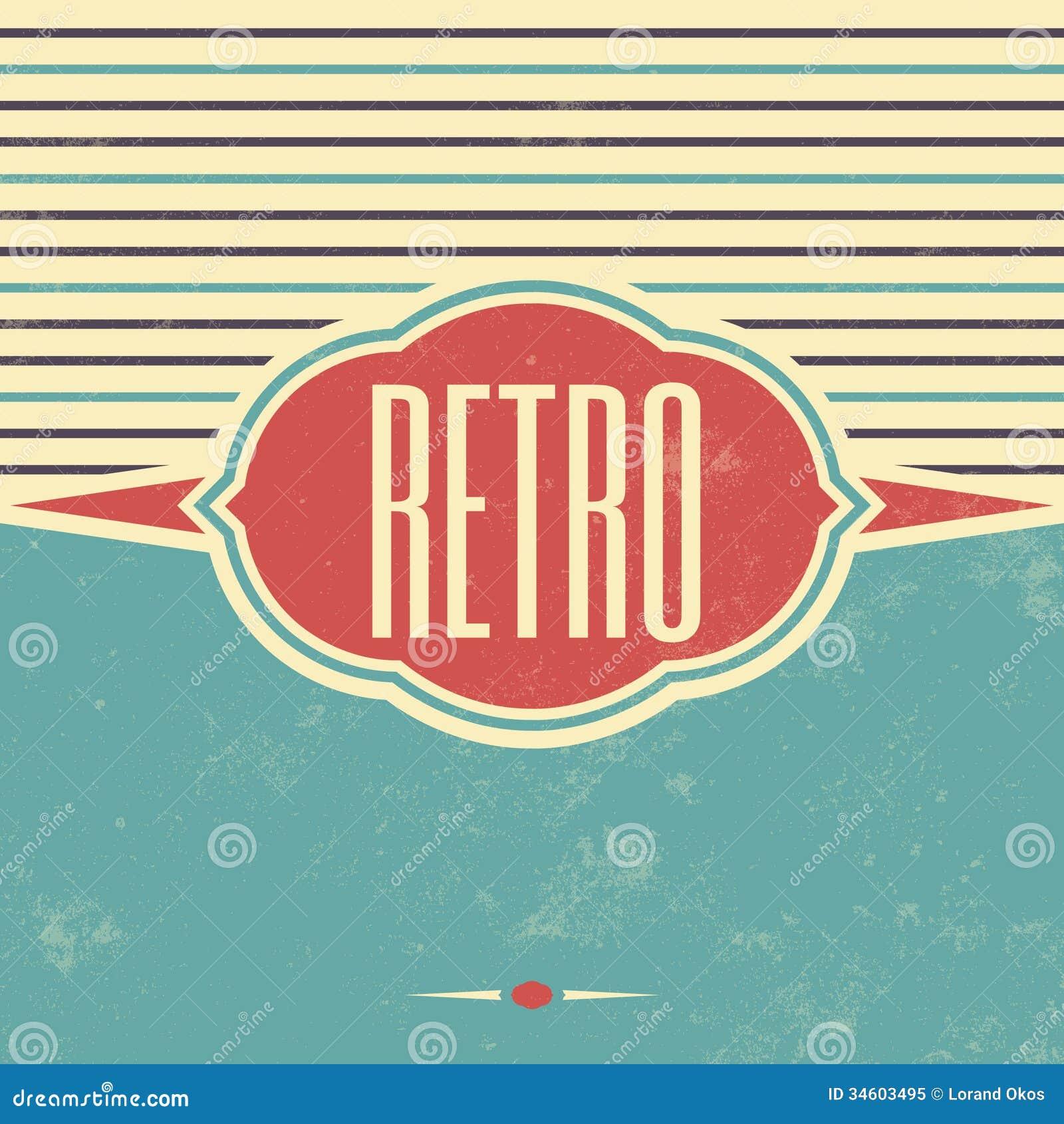 Retro Template Design Vintage Background Royalty Free