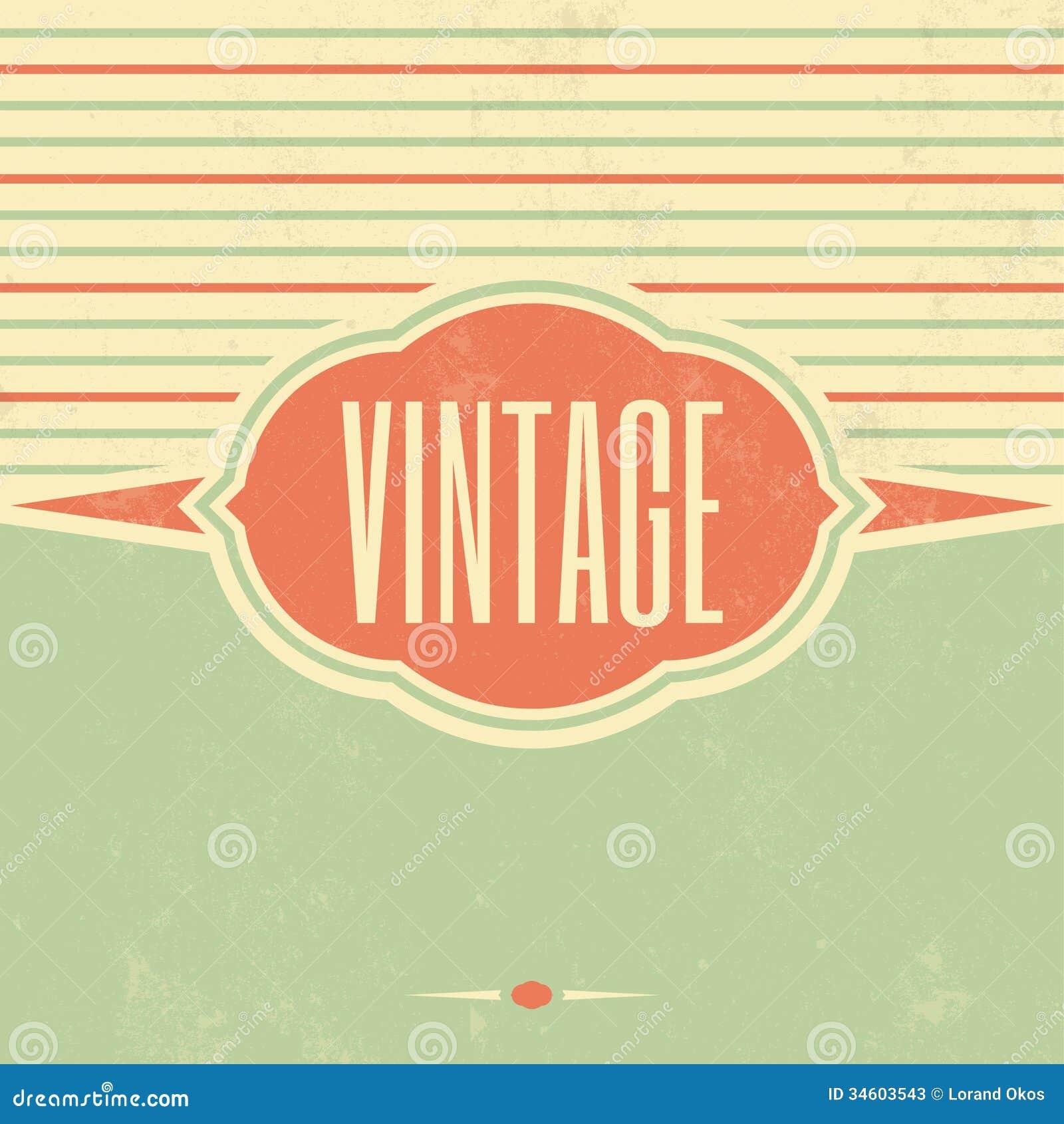 retro template design vintage background stock photos image 34603543. Black Bedroom Furniture Sets. Home Design Ideas