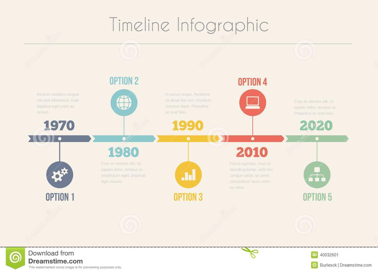 Retro Timeline Infographic Stock Vector - Image: 40032601