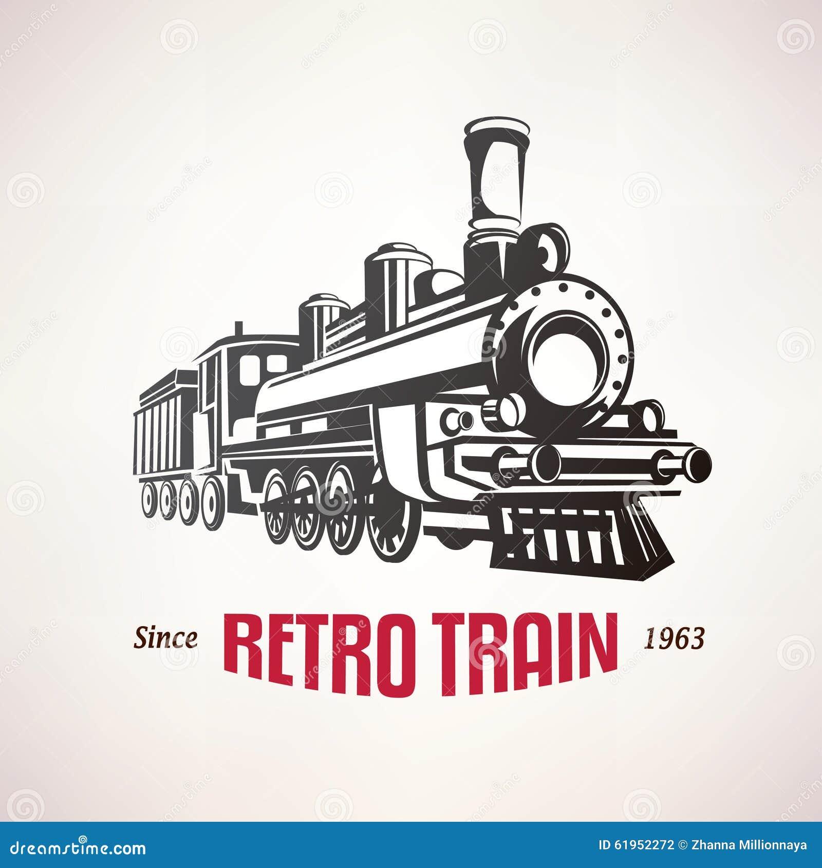 retro train  vintage vector symbol stock vector image steam engine clipart free steam train clipart