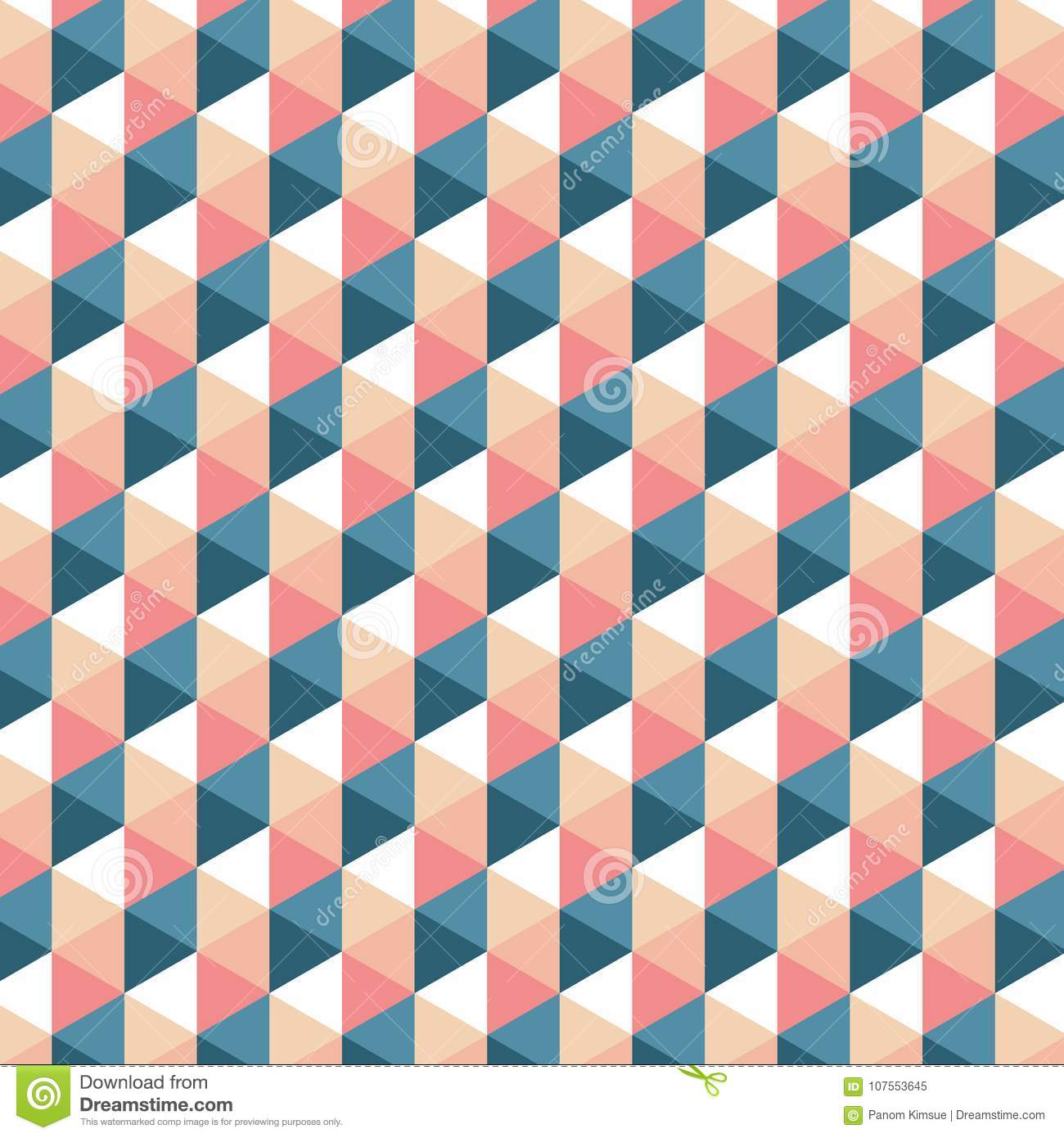 Retro Triangle Pattern  Vector Background  Geometric Abstract