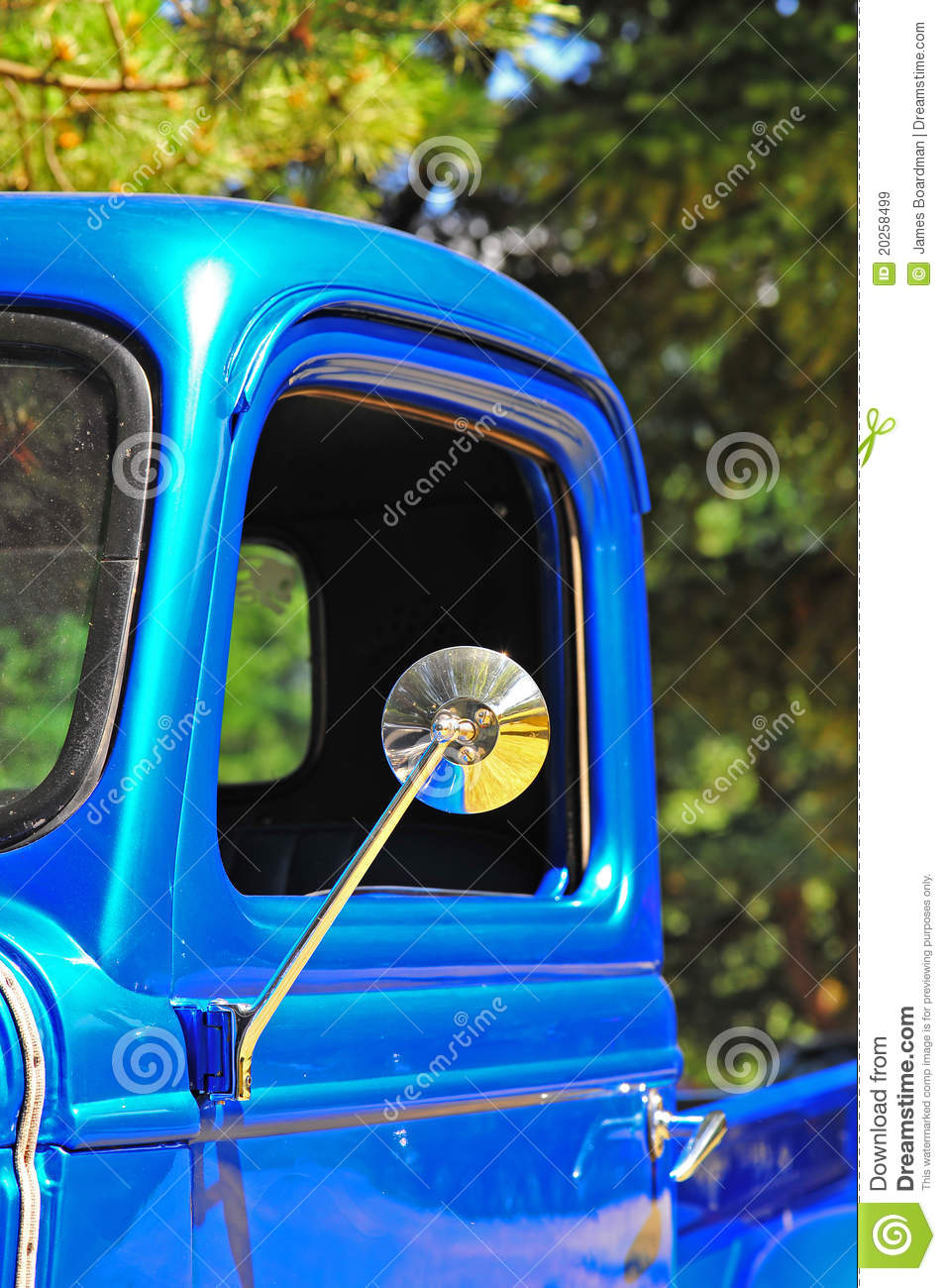 Retro Truck Drivers Side Mirror Stock Image Image 20258499
