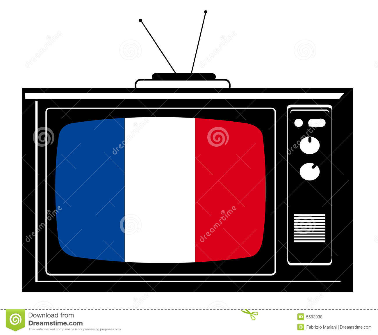 Retro Tv With Flag Of France Royalty Free Stock Photos - Image ...