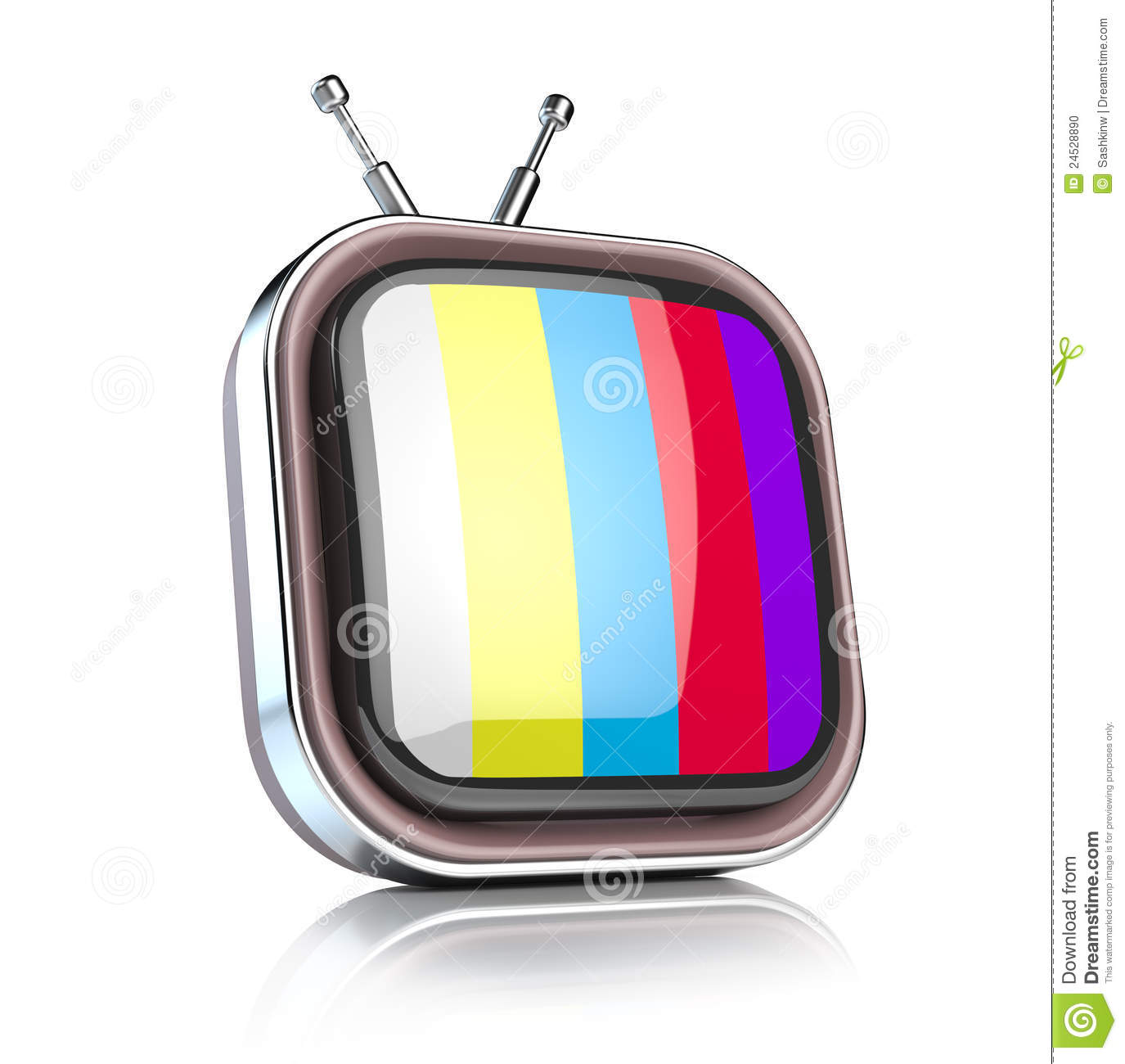 Retro Tv Icon Stock Photo Image 24528890