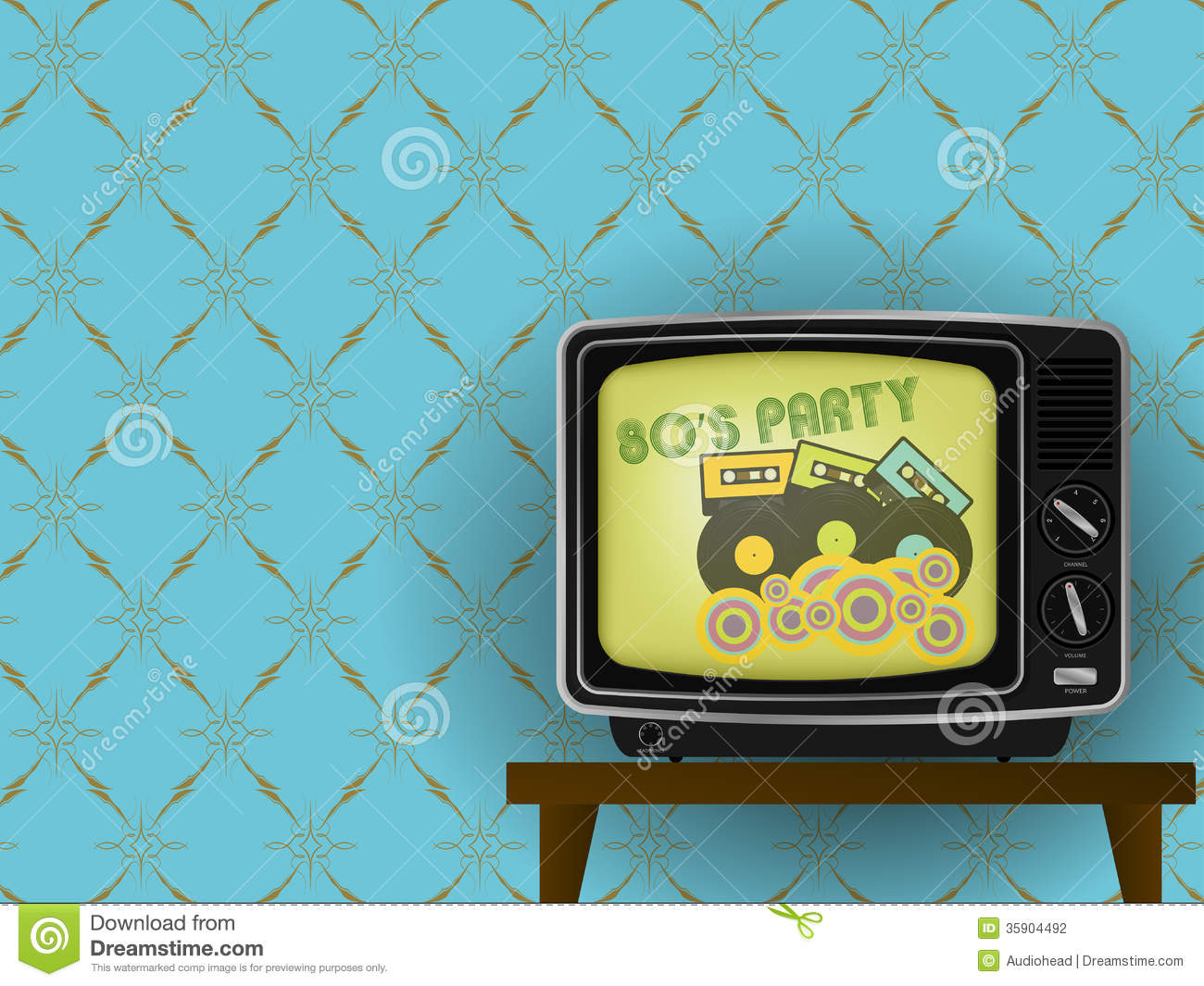 of Retro TV - 80s Party on TV - With Luxury Vintage Wallpaper ...