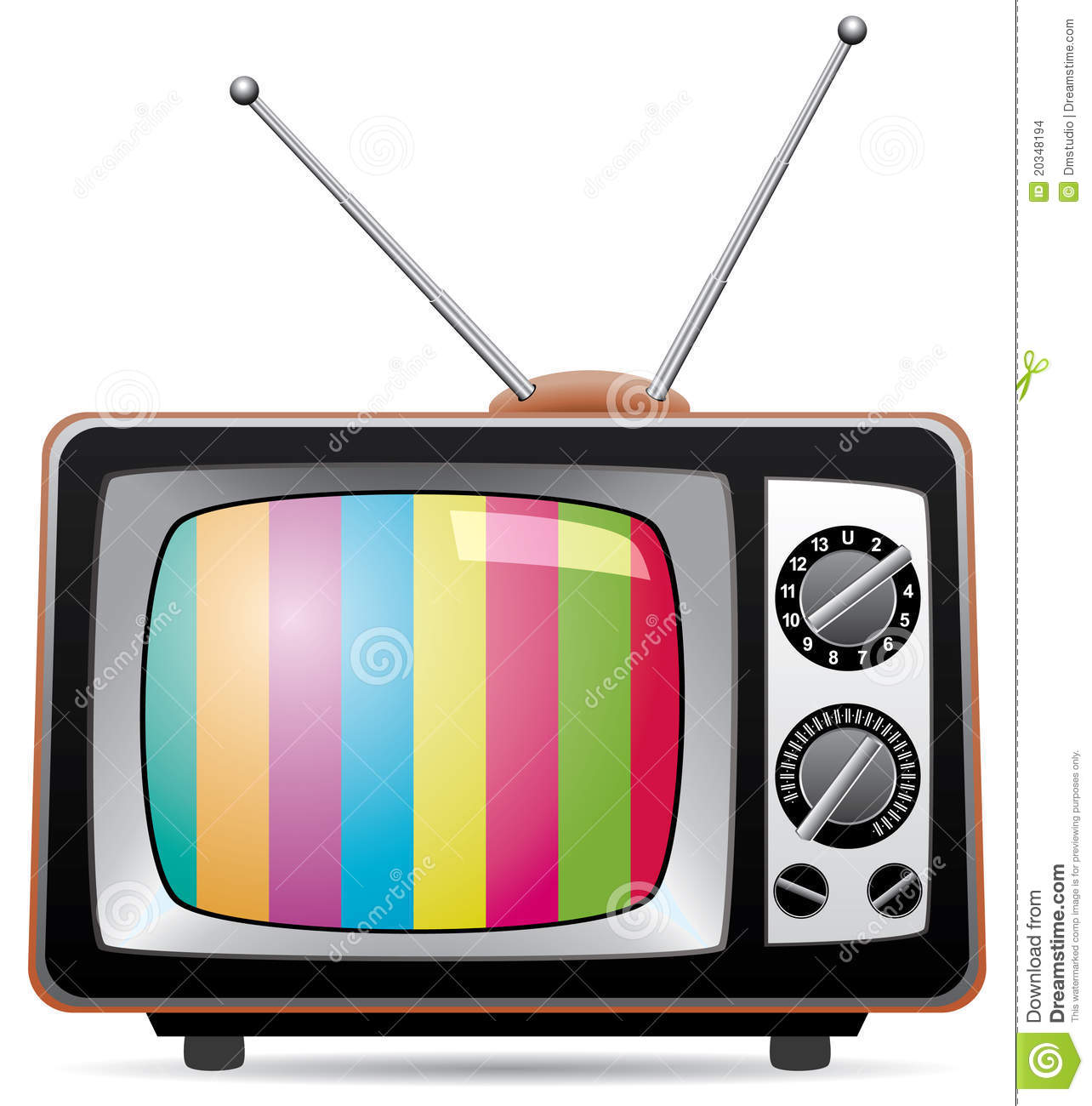 Retro Tv Set Stock Images - Image: 20348194