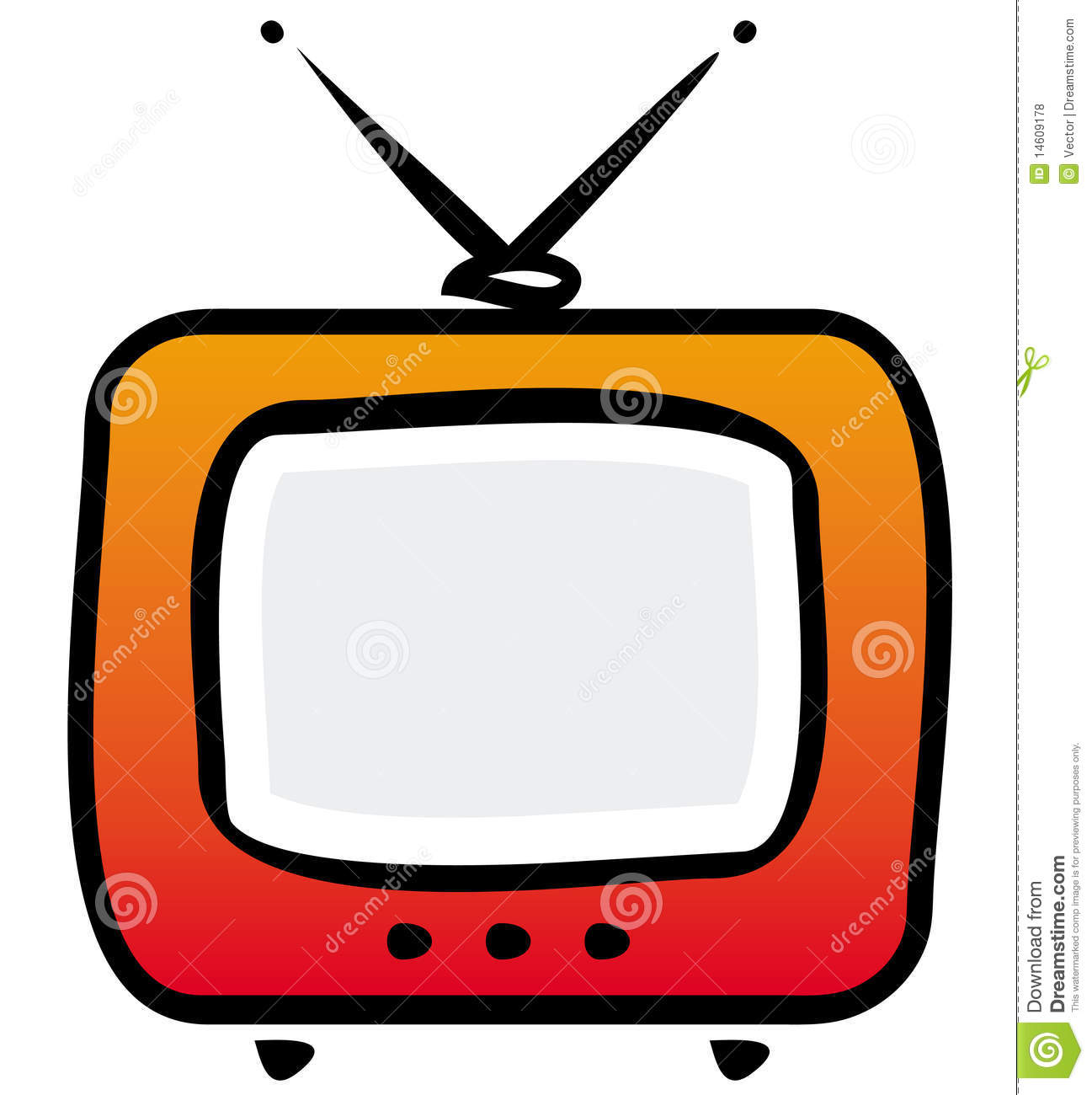 What Time Is It On What Tv: Retro TV-set Illustration Stock Vector. Illustration Of