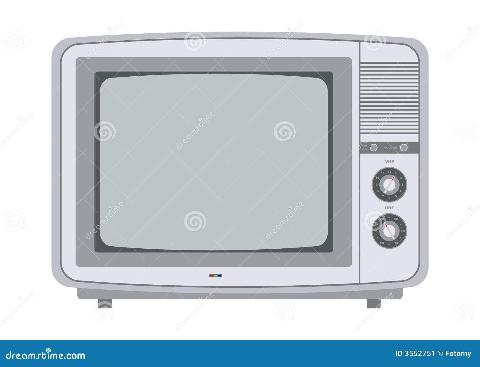Retro tv van de jaren 39 70 stock afbeelding afbeelding 3552751 for Van de tv