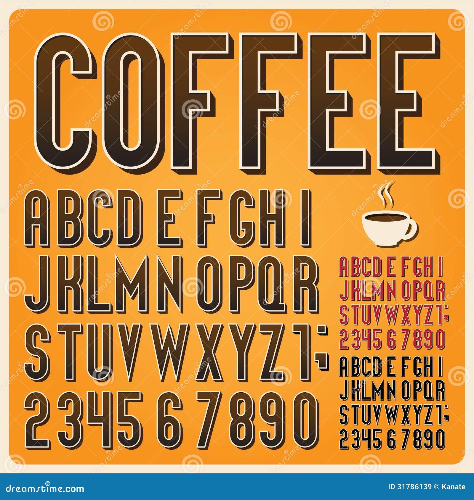 Retro Type Font Vintage Typography Royalty Free Stock