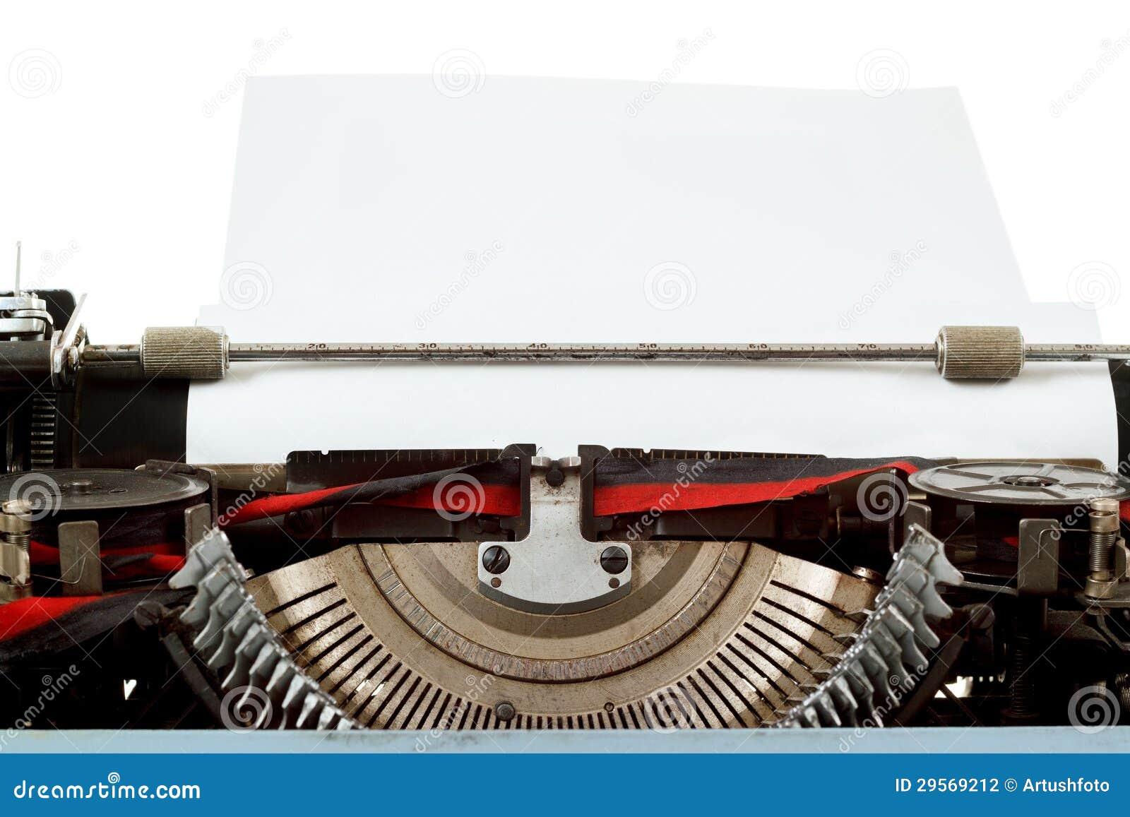 Retro typewriter close up with  Vintage Typewriter Paper Photography