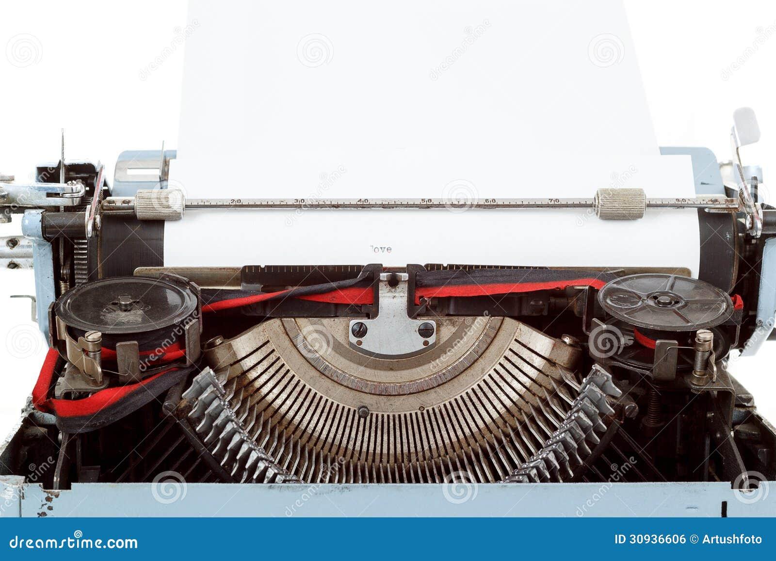 College paper writer typewriter