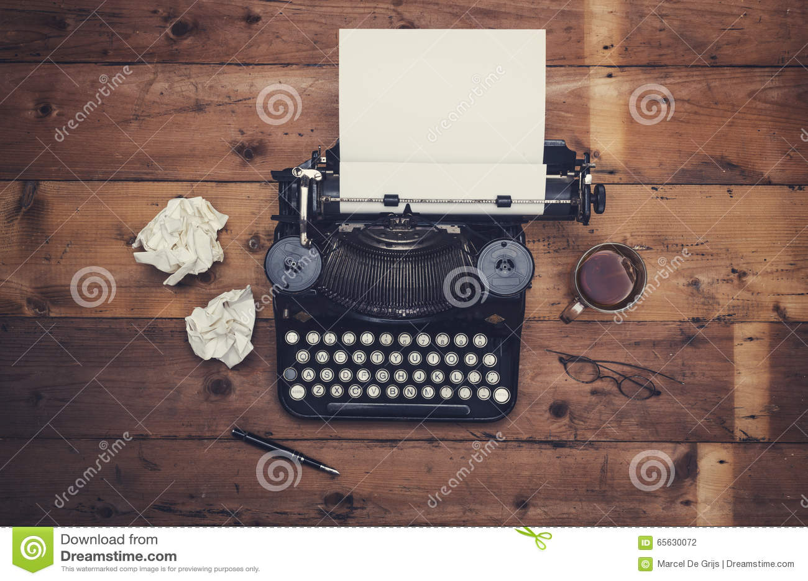 Retro typewriter desk
