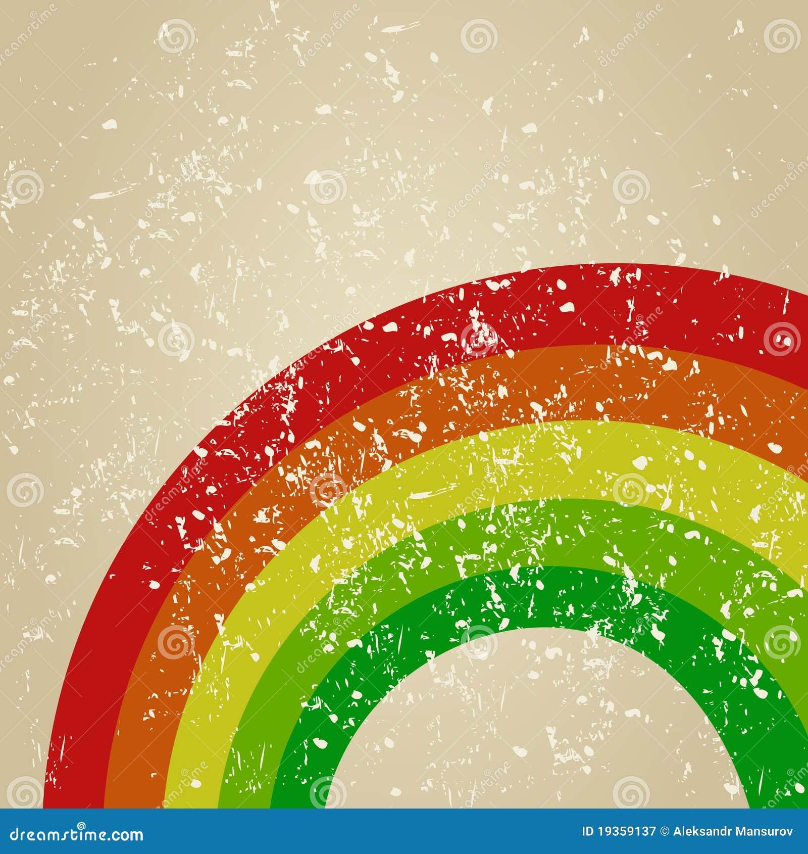 Retro um arco-íris