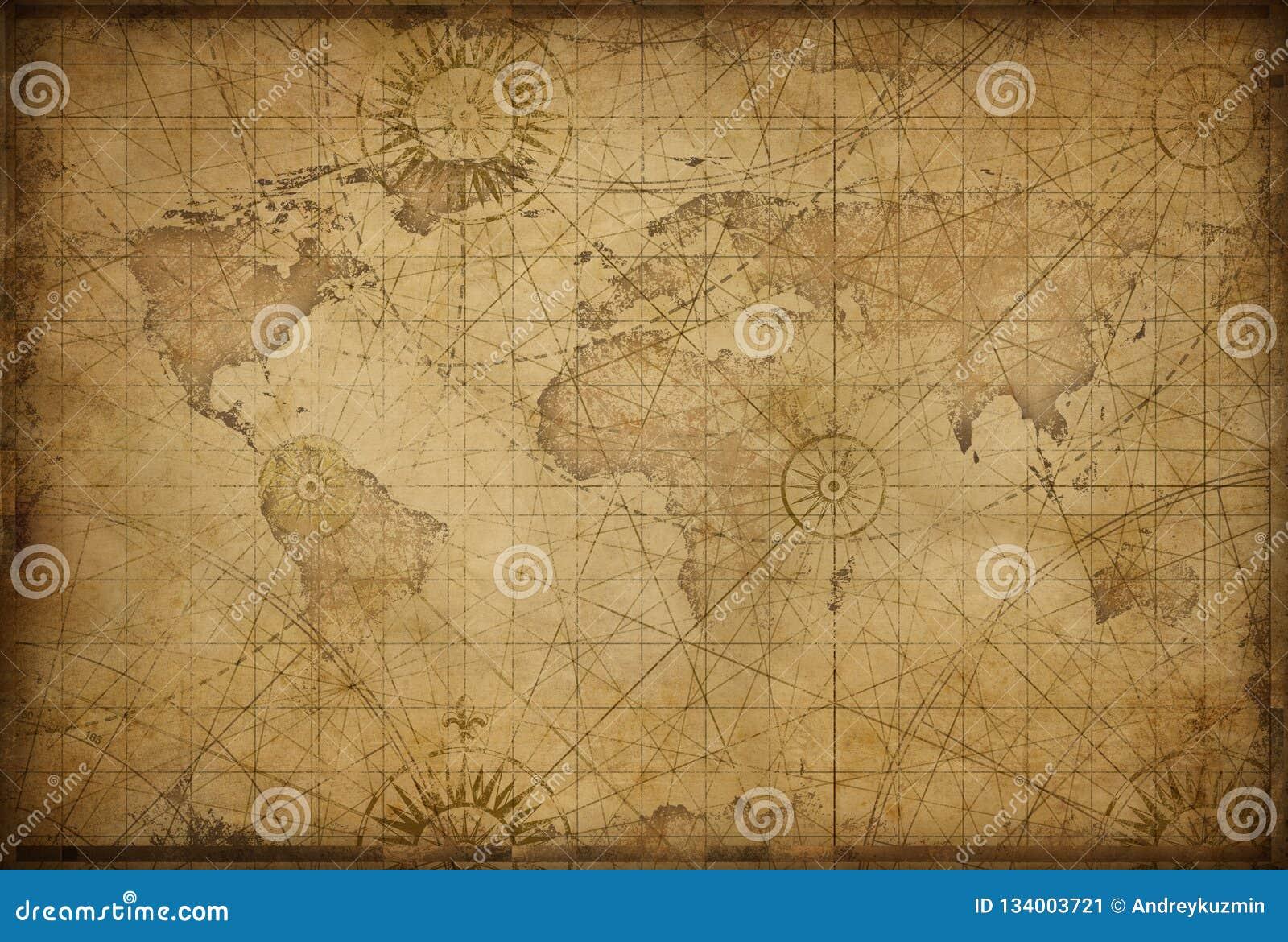Retro utformad världskarta