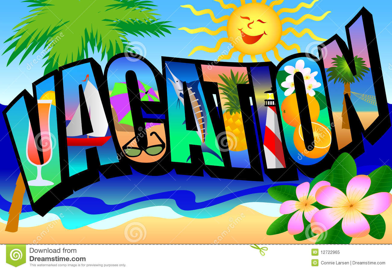 Retro Vacation Postcard Royalty Free Stock Photo - Image: 12722965