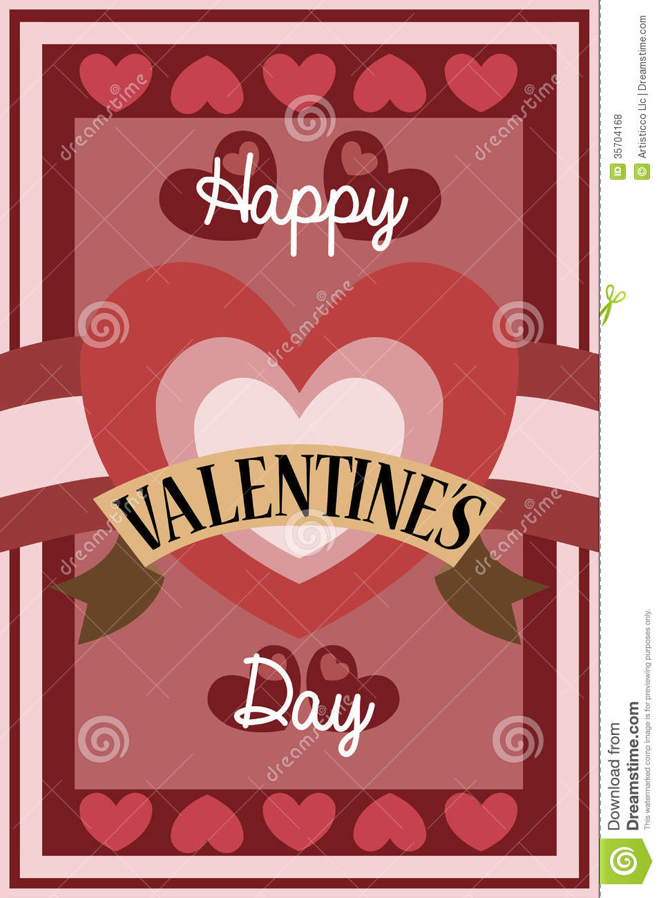 Retro valentine card design stock vector image 35704168 for Designs for valentine cards