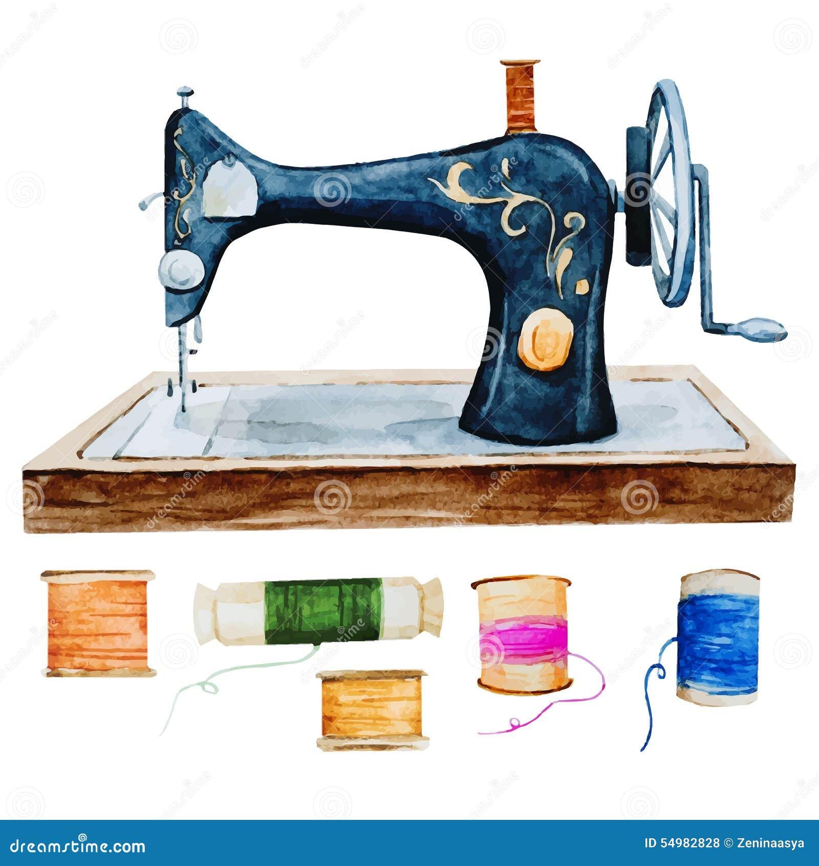 Retro vattenfärgsymaskin för tappning