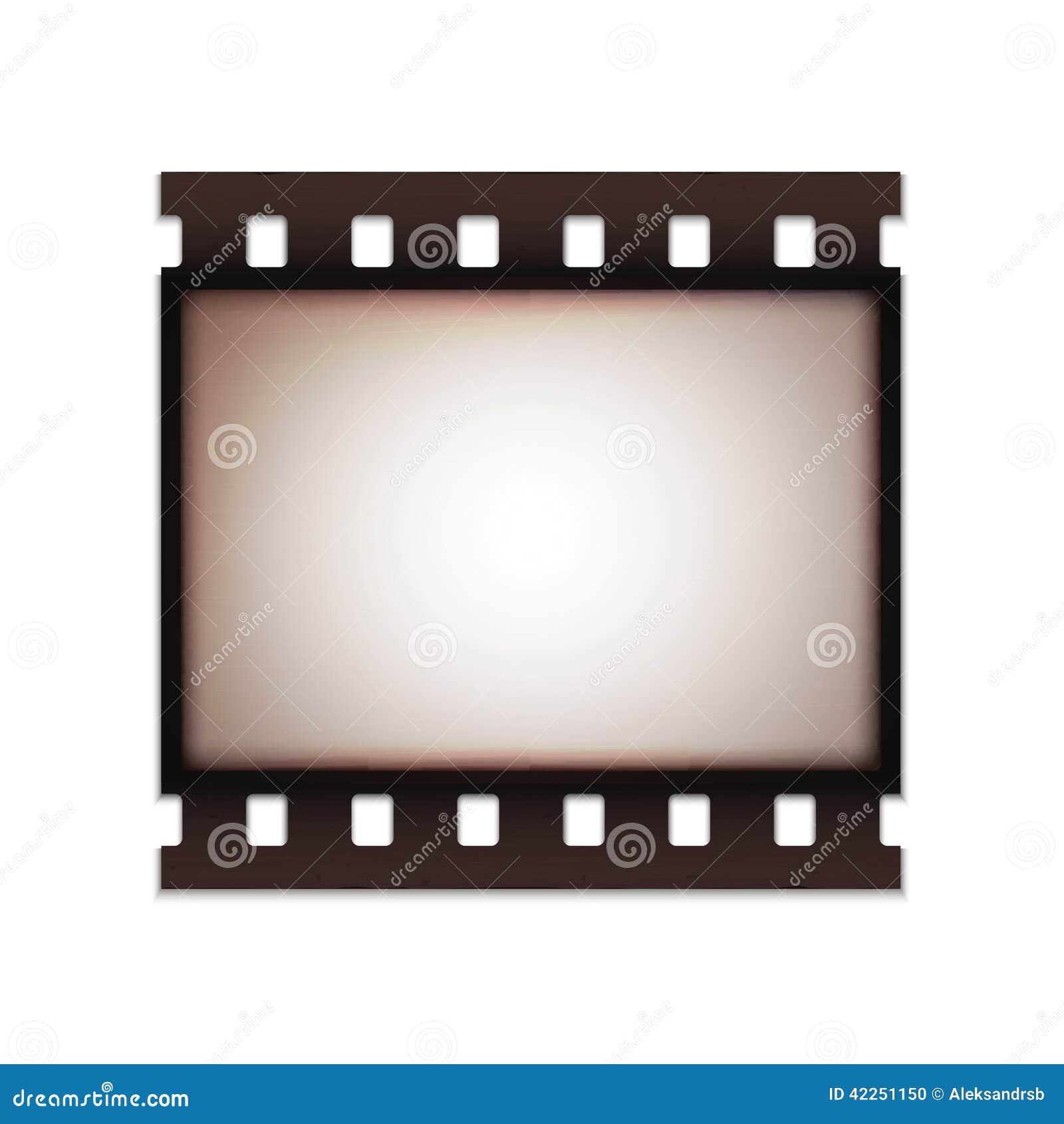 Retro vecchia striscia di pellicola d annata realistica in bianco