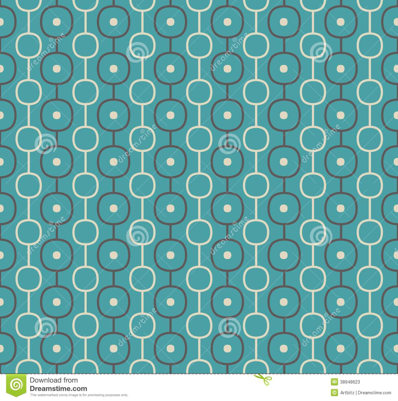 Retro Vector Atomic Background Repeating Pattern Stock