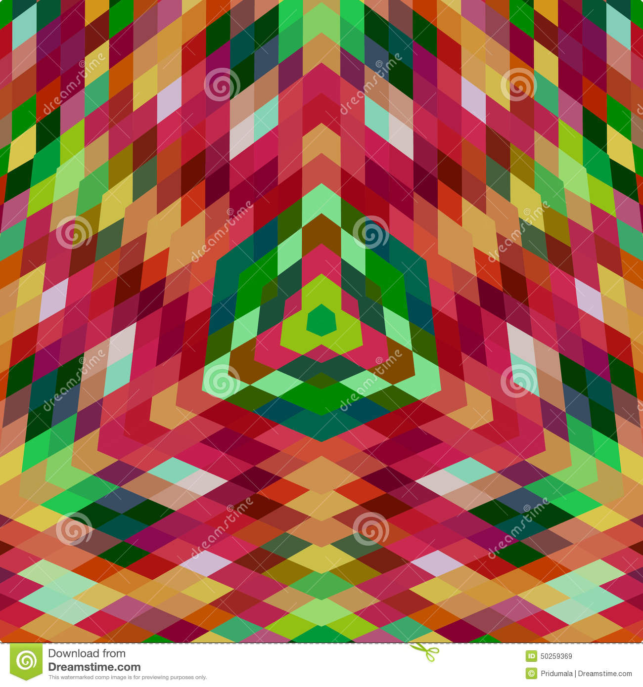 Abstract retro geometric background with place for your text colorful - Retro Vector Backdrop Of Geometric Shapes Colorful Mosaic
