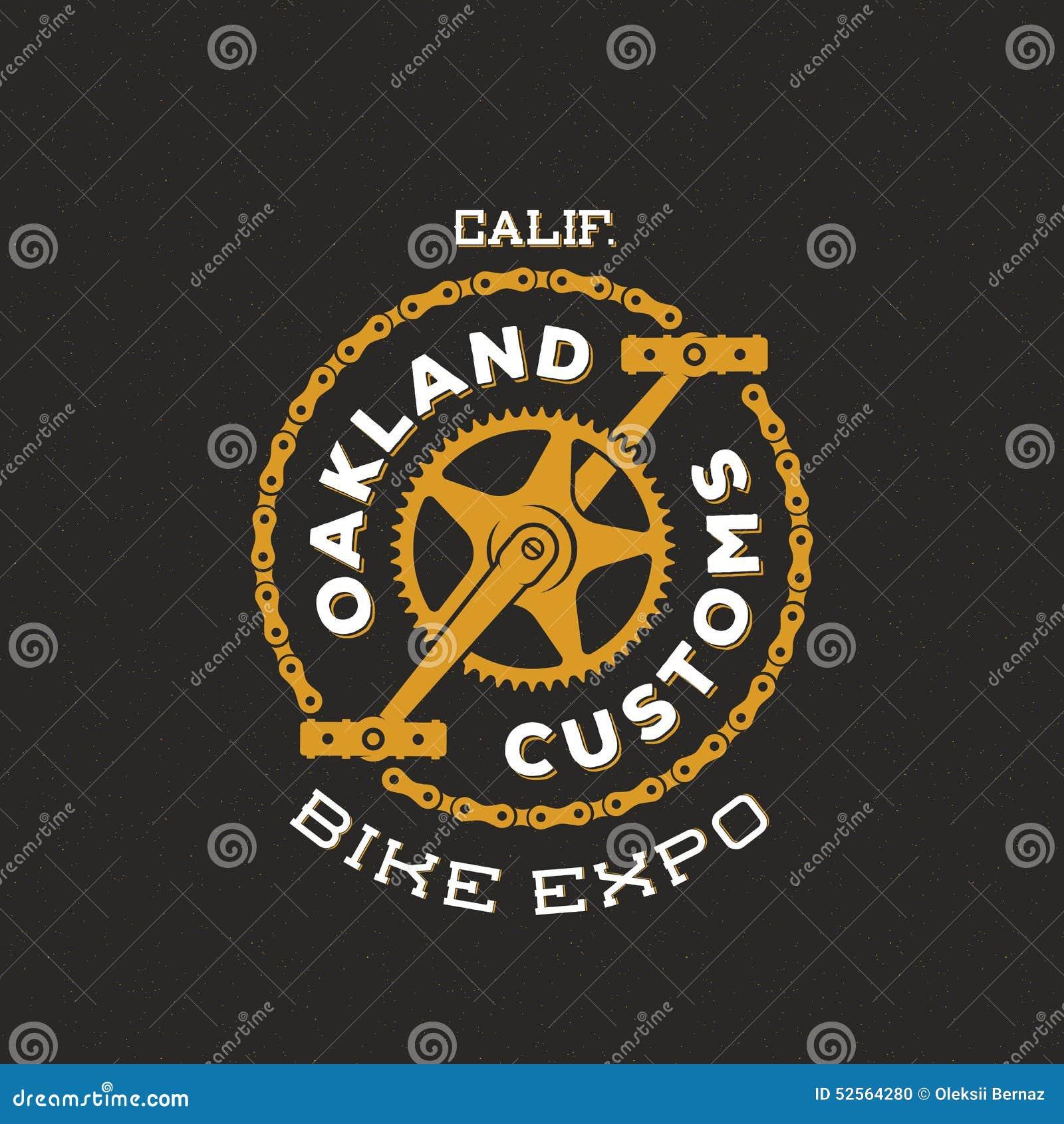 Retro Vector Bike Custom Show Expo Label or Logo