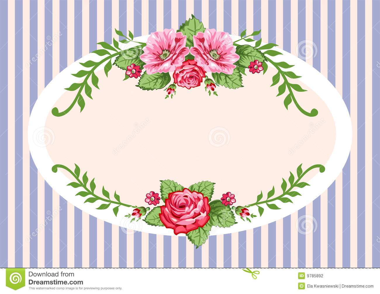 Frame in the victorian style with roses. Full scalable vector graphic ...