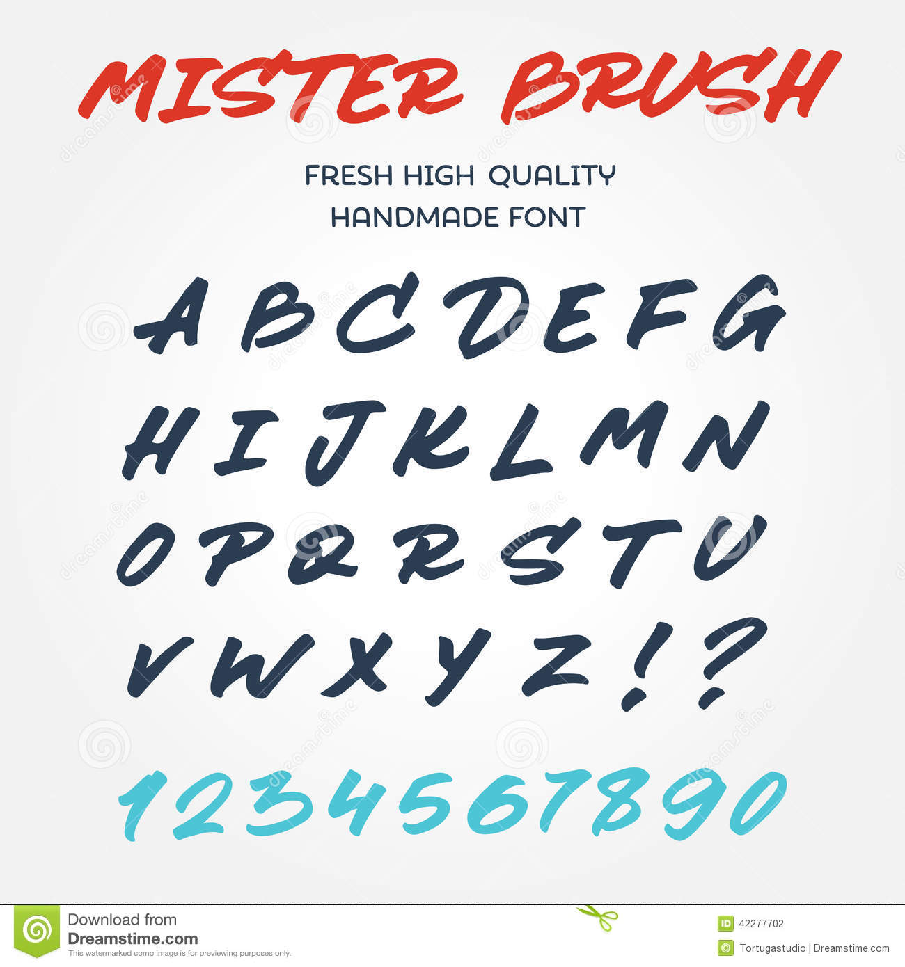 Retro Vector Type Font Alphabet Handwritten With Brush Marker Pe Stock ...