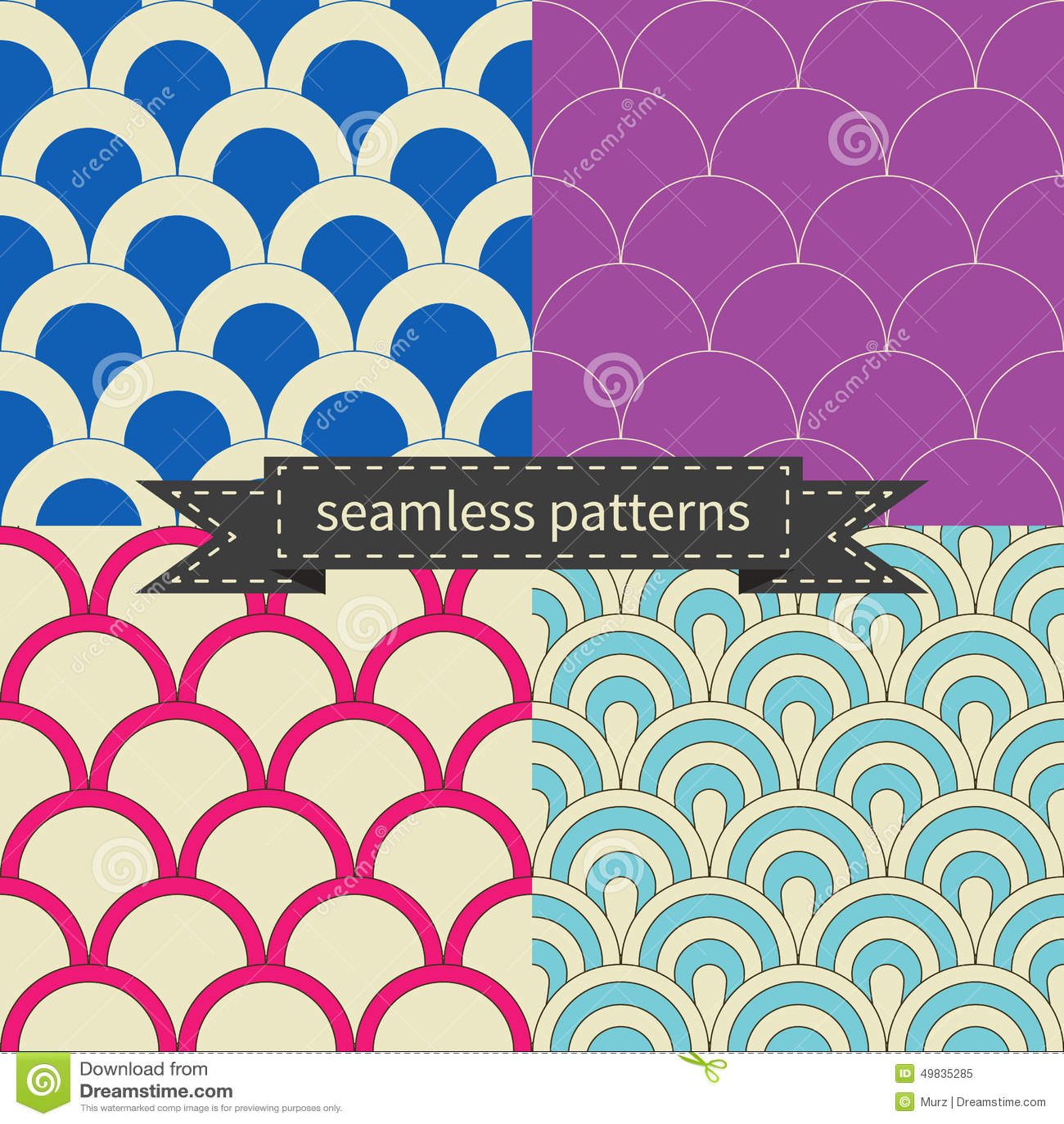 Retro verschillende naadloze patronen