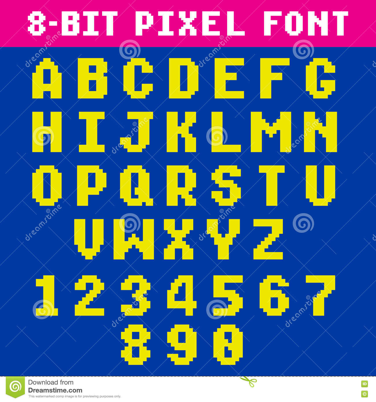 Retro Video Game Font 2 Stock Vector - Image: 84233561