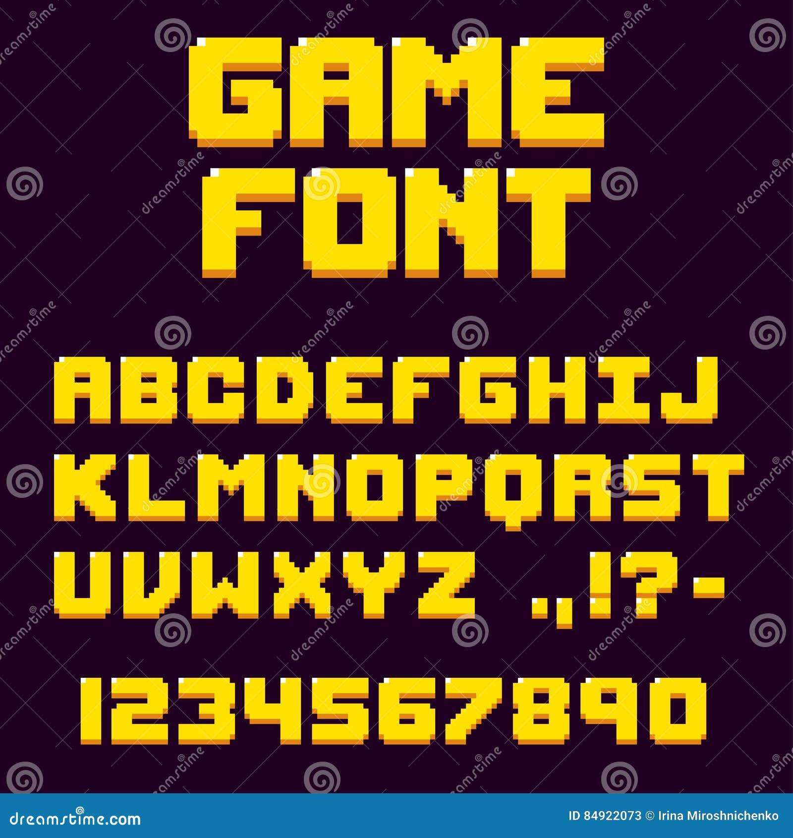 Retro- Videospielguß des Pixels